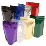 Foil Bags - Stand Up Foil Pouches 8oz No Valve + Zip & Easy Tear Line