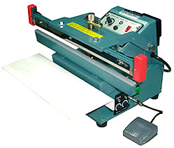"Heat Sealer - 12"" Upper Jaw Automatic Table Top Foot Sealer, 5mm Seal"