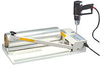 "Shrink Wrap System - 24"" I-Bar Sealer with Heat Gun and 500' Film"