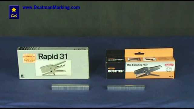 Plier Staplers: Rapid 31 and Bostitch P6C-8 Stapler Video Demonstration
