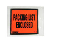 Packing List Envelopes - 4 1/2 x 5 1/2 - Packing List Enclosed, Solid