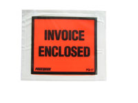 Packing List Envelopes - 4 1/2 x 5 1/2 - Invoice Enclosed, Solid
