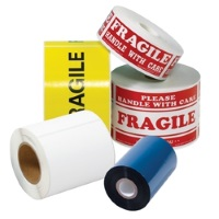 "Custom Printed Tape - 2"" x 1000 yd White 1.9 mil Machine Grade Tape, 6 rolls/case, 2 colors"