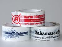 "Custom Printed Tape - 3"" x 110 yds Clear 2.0 mil Packaging Tape, 24 rolls/case, 2 colors"