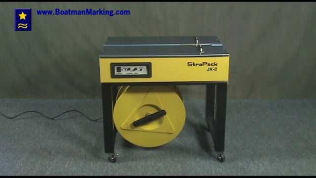 Strapack JK-2 Strapping Machine Operating Video Demonostration