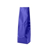 Foil Bags - Center-Seal Gusseted Foil Bags Blue 2oz. No Valve