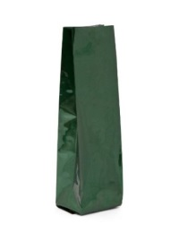 Foil Bags - Side-Seal Gusseted Foil Bags Green 8oz. No Valve