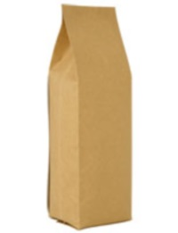 Foil Bags - Side-Seal Gusseted Foil Bags Natural Kraft Paper 16oz. No Valve