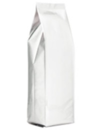 Foil Bags - Side-Seal Gusseted Foil Bags White 16oz. No Valve