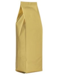 Foil Bags - Side-Seal Gusseted Foil Bags Gold 8oz. No Valve