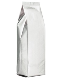 Foil Bags - Side-Seal Gusseted Foil Bags Silver 4oz. No Valve