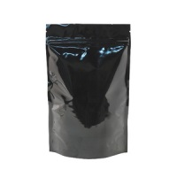 Foil Bags - Stand Up Foil Pouches Black No Valve 16oz. + Zip & Easy Tear Line
