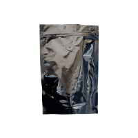 Foil Bags - Stand Up Foil Pouches Black 4oz. + Zip, Valve, And Easy Tear Line