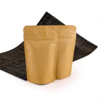 Foil Bags - Stand Up Foil Pouches Natural Kraft Paper No Valve 2oz. + Zip