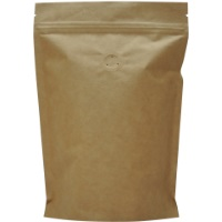 Foil Bags - Stand Up Foil Pouches Natural Kraft Paper 2oz. + Zip And Valve