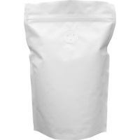 Foil Bags - Stand Up Foil Pouches White 8oz. + Zip And Valve