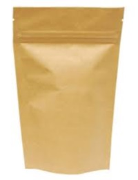 Mylar Bags - Stand Up Metallized Mylar Pouch Natural Kraft Paper No Zip 1oz.