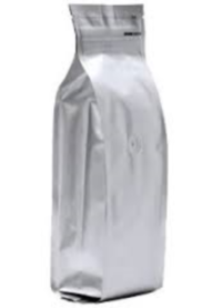 Foil Bags - Quad Seal Gusseted Foil Bags With Zip Silver 2lb.