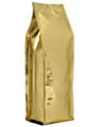 Foil Bags - Quad Seal Gusseted Foil Bags Gold 8oz. No Zip