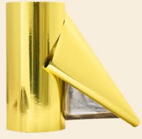 Foil Bag Roll Stock - Metallized Foil Bag Roll Stock Gold 13""